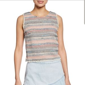 Tweed Cropped Tank